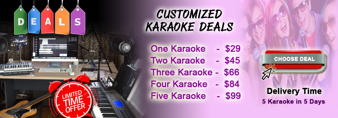 Customized Karaoke Orders