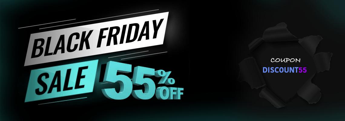 Black Friday Sale - 55% Off - Coupon: BLACKFRIDAY