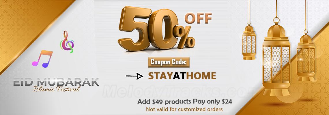 50% OFF EID Sale - Coupon Code: STAYATHOME