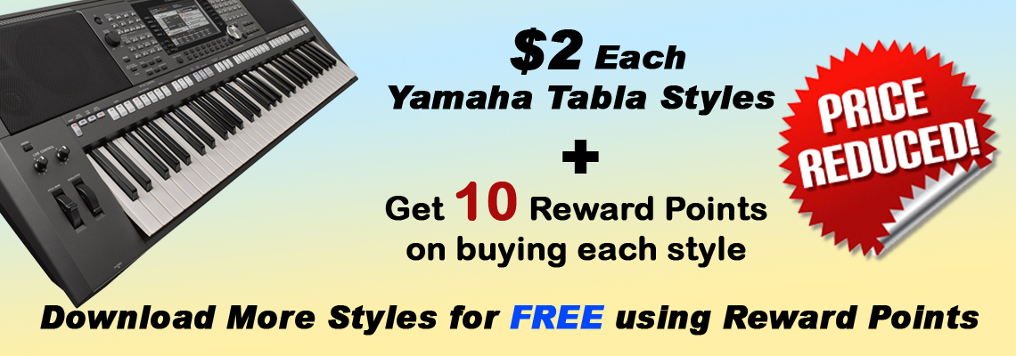 Price Reduced + Reward points - YAMAHA Tabla Styles