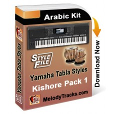Yamaha Kishore Songs Tabla Styles Set 1 - Arabic Kit - Keyboard Beats
