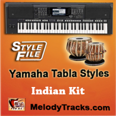 Dukh Bhare Din Beete Re - Yamaha Tabla Style/ Beats/ Rhythms - Indian Kit (SFF1 & SFF2)