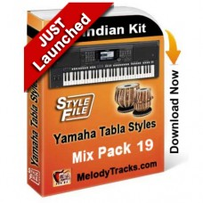Yamaha Mix Songs Tabla Styles Set 19 - Indian Kit (SFF1, SFF2) - Keyboard Beats - Pack