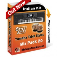 Yamaha Mix Songs Tabla Styles Set 20 - Indian Kit (SFF1, SFF2) - Keyboard Beats - Pack