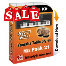Yamaha Mix Songs Tabla Styles Set 21 - Indian Kit (SFF1, SFF2) - Keyboard Beats - Pack