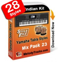 Yamaha Mix Songs Tabla Styles Set 23 - Indian Kit (SFF1, SFF2) - Keyboard Beats - Pack