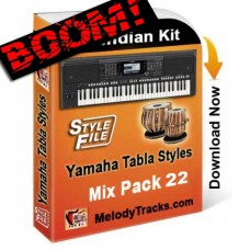 Yamaha Mix Songs Tabla Styles Set 22 - Indian Kit (SFF1, SFF2) - Keyboard Beats - Pack