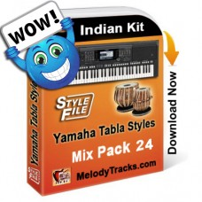 Yamaha Mix Songs Tabla Styles Set 24 - Indian Kit (SFF1, SFF2) - Keyboard Beats - Pack