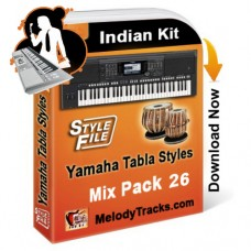 Yamaha Mix Songs Tabla Styles Set 26 - Indian Kit (SFF1, SFF2) - Keyboard Beats - Pack