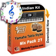 Yamaha Mix Songs Tabla Styles Set 27 - Indian Kit (SFF1, SFF2) - Keyboard Beats - Pack