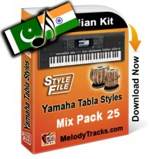 Yamaha Mix Songs Tabla Styles Set 25 - Indian Kit (SFF1, SFF2) - Keyboard Beats - Pack