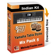 Yamaha Mix Songs Tabla Styles Set 5 - Indian Kit (SFF1, SFF2) - Keyboard Beats