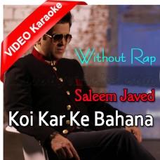 Koi Kar Ke Bahana Sanu Mil - Without Rap - MP3 + VIDEO Karaoke - Saleem Javed