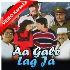Aa Gale Lag Ja - Mp3 + VIDEO Karaoke - Abhijeet - Kavita Krishnamurti