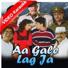 Aa Gale Lag Ja - Mp3 + VIDEO Karaoke - Abhijeet - Kavita Krishnamurti