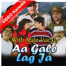 Aa Gale Lag Ja - With Male Vocal - Mp3 + VIDEO Karaoke - Abhijeet - Kavita Krishnamurti