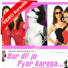 Aisa Pehli Baar Hua Hai - Mp3 + VIDEO Karaoke - Har Dil Jo Pyaar Karega - Sonu Nigam