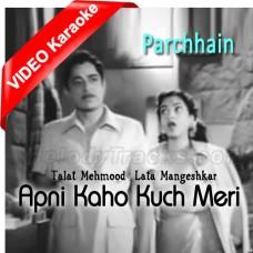 Apni Kaho Kuch Meri Suno - Mp3 + VIDEO Karaoke - Lata Mangeshkar - Talat Memood