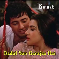 Badal Yun Garajta Hai - Karaoke Mp3 - Lata Mangeshkar - Shabbir Kumar