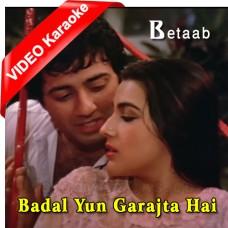Badal Yun Garajta Hai - Mp3 + VIDEO Karaoke - Lata Mangeshkar - Shabbir Kumar