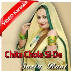 Chita Chola Si De Darzi - Female Version - Mp3 + VIDEO Karaoke - Sazia Rani - Saraiki