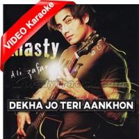 Dekha Jo Teri Aankhon Mein - Mp3 + VIDEO Karaoke - Ali Zafar
