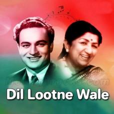 Dil Lootne Wale Jadugar - Karaoke Mp3 - Lata Mangeshkar - Mukesh