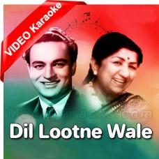 Dil Lootne Wale Jadugar - Mp3 + VIDEO Karaoke - Lata Mangeshkar - Mukesh