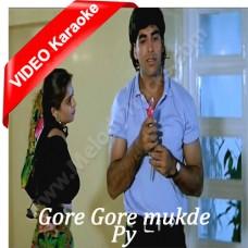 Gore Gore Mukhde Pe Kala Kala Chasma - Mp3 + VIDEO Karaoke - Udit Narayan - Alka - Suhag - 1994