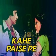 Kahe Paise Pe Itna - Karaoke Mp3 - Kishore Kumar - Laawaris