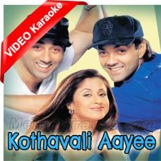 Kothavali Aaye - Mp3 + VIDEO Karaoke - Jaspinder Narula - Dilraj Kaur - Dillagi