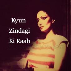 Kyun Zindagi Ki Raah Mein - Karaoke Mp3 - Chitra Singh - Saath Saath - 1982