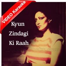 Kyun Zindagi Ki Raah Mein - Mp3 + VIDEO Karaoke - Chitra Singh - Saath Saath - 1982