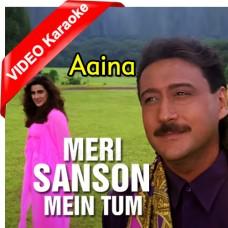 Meri Sanson Mein Tum - Mp3 + VIDEO Karaoke - Kumar Sanu - Asha Bhonsle