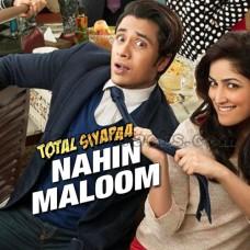 Nahi Maloom - Karaoke Mp3 - Ali Zafar - Fariha Parvez