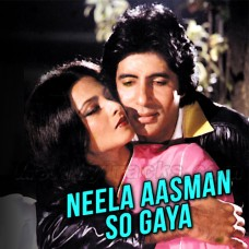 Neela Aasmaan So Gaya - Karaoke Mp3 - Amitabh Bachchan - Male Version