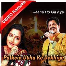 Palkein Utha Ke Dekhiye - Mp3 + VIDEO Karaoke - Udit Narayan - Anuradha Paudhwal