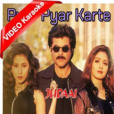 Pyar Pyar Karte Karte - Mp3 + VIDEO Karaoke - Abhijeet - Alka - Judaai