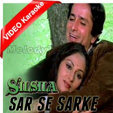 Sar Se Sarke Chunariya - Without Chorus - Mp3 + VIDEO Karaoke - Lata - Kishore - Silsila