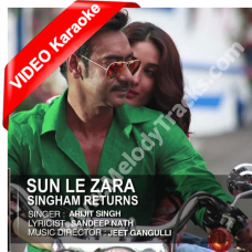 Sun le zara / Mon majhi re - Mp3 + VIDEO Karaoke - Arijit Singh