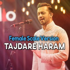 Tajdare Haram - Female Scale Version - Karaoke Mp3 - Atif Aslam - Coke Studio
