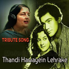 Thandi Hawayein Lehrake Aaye - Tribute Song - Karaoke Mp3 - Anuradha Paudwal