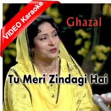 Tu Meri Zindagi Hai - Live - Mp3 + VIDEO Karaoke - Tasawar Khanum