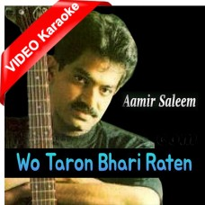 Wo Taron Bhari Raatein - Mp3 + VIDEO Karaoke - Amir Saleem - Musafir