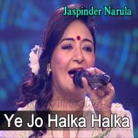 Ye Jo Halka Halka Suroor - Sufi Song - Karaoke Mp3 - Jaspinder Narula