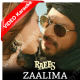 Zaalima - Mp3 + VIDEO Karaoke - Arijit Singh - Harshdeep