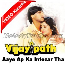 Aaiye Aap ka Intezaar Tha - Mp3 + VIDEO Karaoke - Kumar Sanu - Sadhna Sargam - Vijay Path - 1994