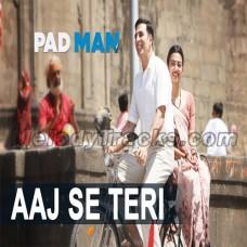 Aaj Se Teri Galliyan - Karaoke Mp3 - Arijit Singh - Padman