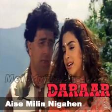 Aise Mili Nigahen - Karaoke Mp3 - Kumar Sanu - Alka - Daraar