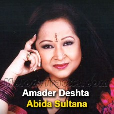 Amader Deshta - Mp3 Karaoke - Abida Sultana - Bangla